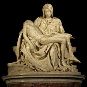 A photo of Michaelangelo's Pieta.
