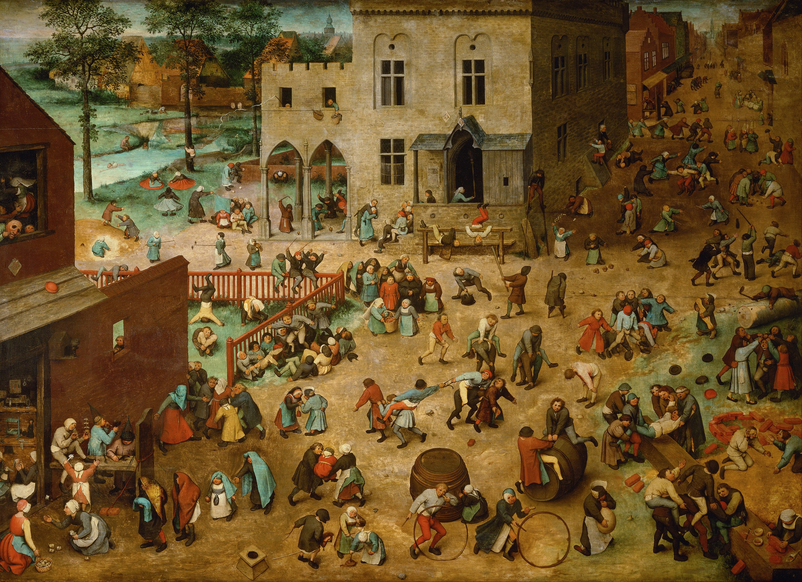 1560s painting depicting children playing.